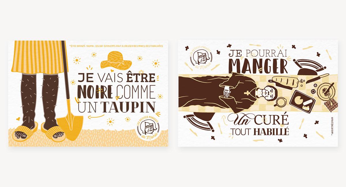 Cartes postales les petites phrases de mamie