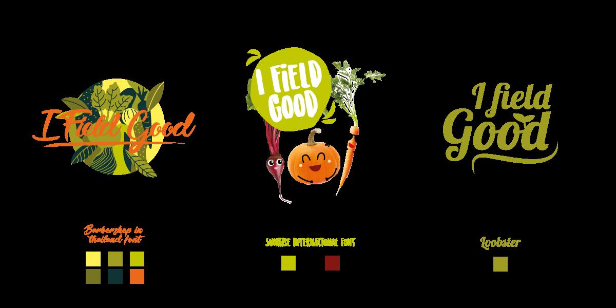 3 propositions de logo I Field Good