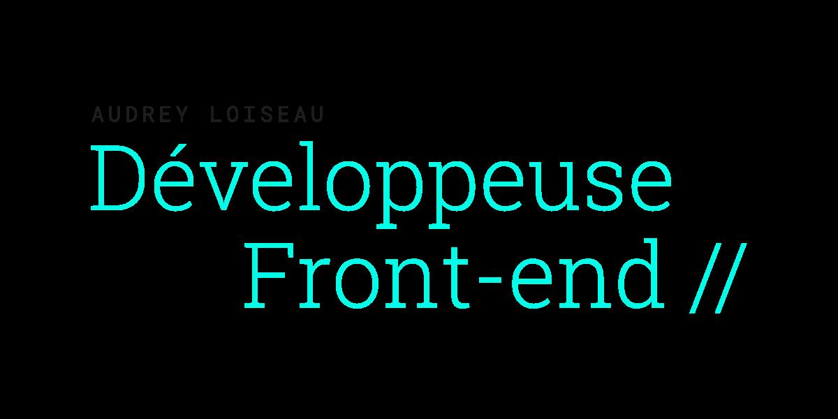 Logo Audrey Loiseau développeuse web
